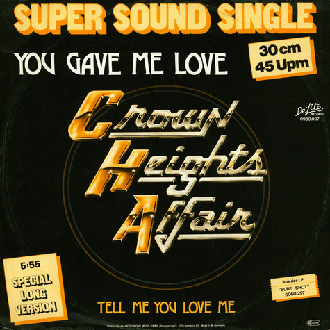 Crown Heights Affair - You Gave Me Love