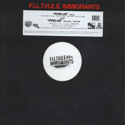 Filthee Immigrants - Find Us