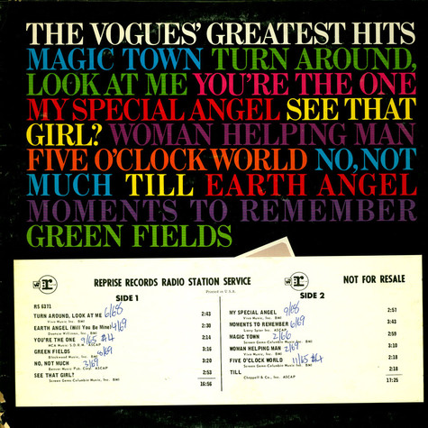 Vogues, The - The Vogues' Greatest Hits