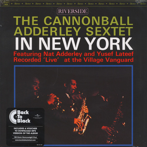 Cannonball Adderley Sextet - In New York Back To Black Edition