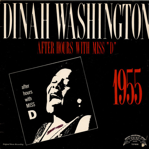"Dinah Washington - After Hours With Miss ""D"""