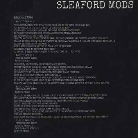 Pop Group, The / Sleaford Mods - Nations / Face To Faces