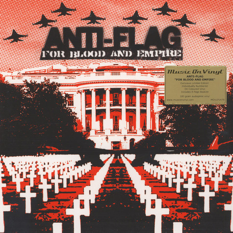 Anti-Flag - For Blood & Empire Clear Red Vinyl Edition
