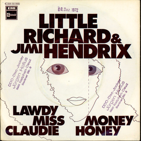 Little Richard & Jimi Hendrix - Lawdy Miss Claudie / Money Honey