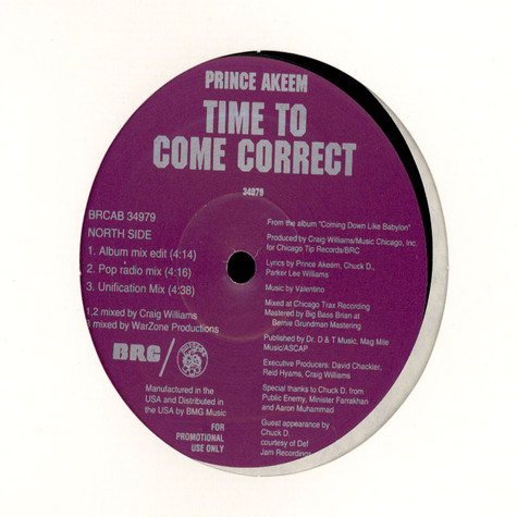 Prince Akeem - Time To Come Correct