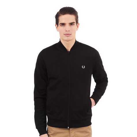 fred perry bomber neck track jacket black. Black Bedroom Furniture Sets. Home Design Ideas
