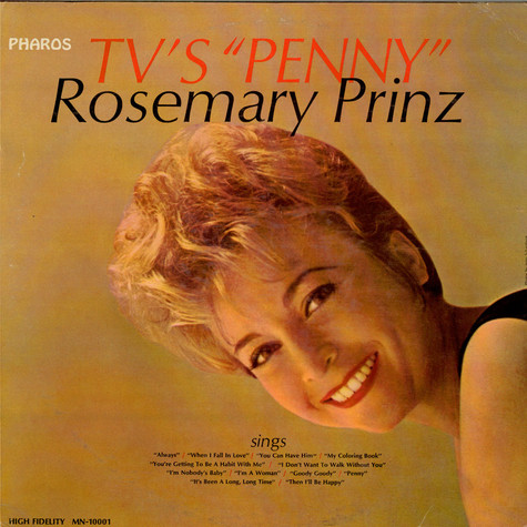 "Rosemary Prinz - TV's ""Penny"""