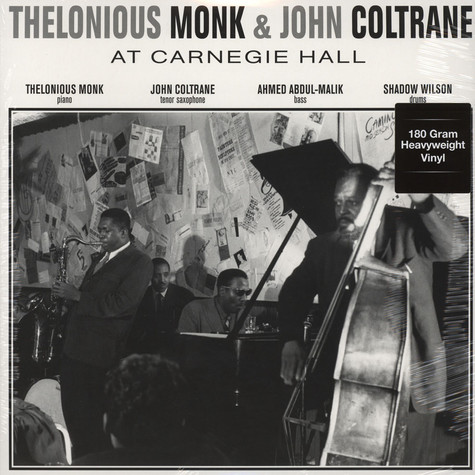Thelonious Monk & John Coltrane - At Carnegie Hall November 29, 1957 180g Vinyl Edition