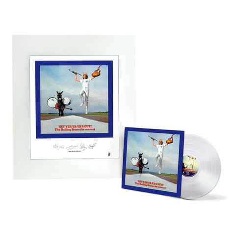 Rolling Stones, The - Get Yer Ya-ya's Out Clear Vinyl with Album Art Lithograph Edition