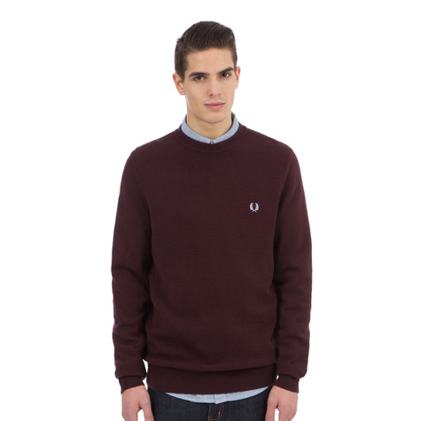 Fred Perry - Textured Tuck Stitch Crewneck Sweater