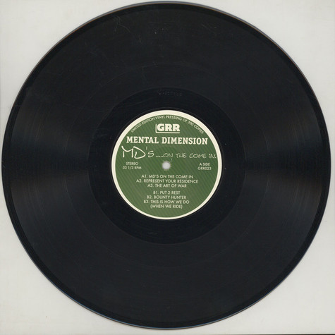 Mental Dimension - MD's... On The Come In Black Vinyl Edition
