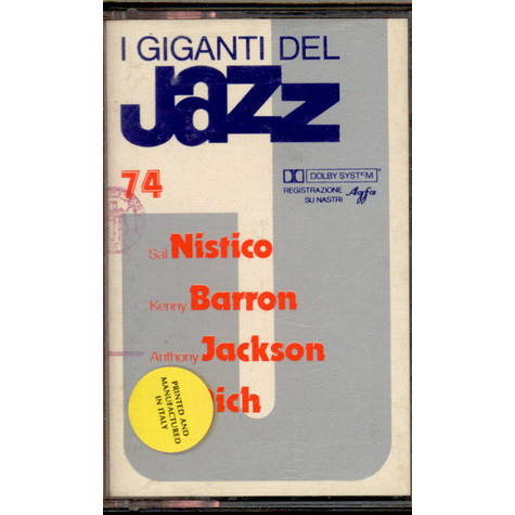 Sal Nistico / Kenny Barron / Anthony Jackson / Buddy Rich - I Giganti Del Jazz Vol. 74
