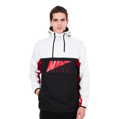 Nike - M NSW AV15 Jacket HZ Woven Hoodie (White   Black   University ... 2df567d2b