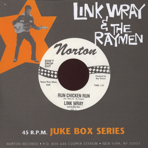 Link Wray & The Wraymen - Run Chicken Run / Scatter