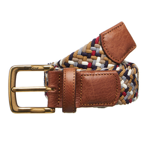 Barbour - Tartan Coloured Stretch Belt G