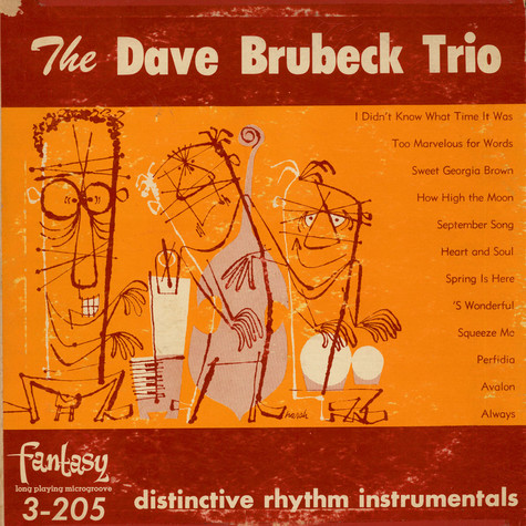 Dave Brubeck Trio, The - Distinctive Rhythm Instrumentals