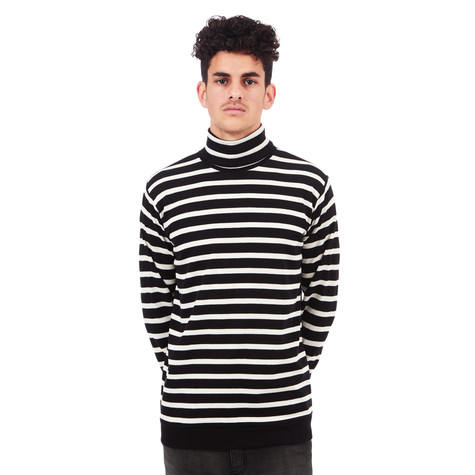 Libertine-Libertine - Tame Stripe Roll Neck Sweater