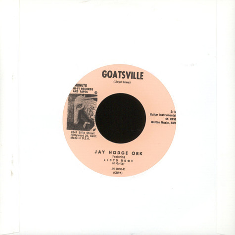 Jay Hodge Ork  / Mecie Jenkins - Goatsville / Come Back Pretty Baby