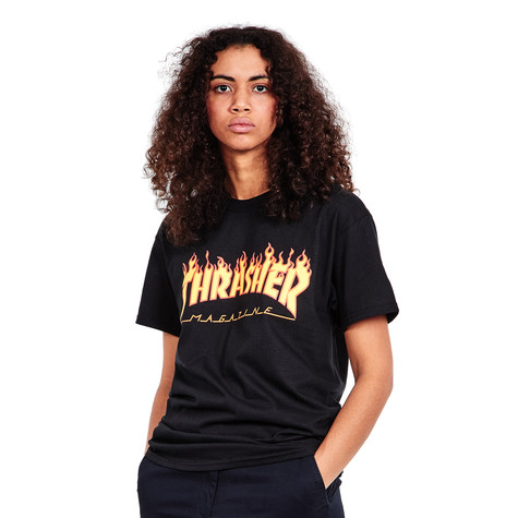 2e8e65373010 Thrasher - Women s Flame T-Shirt (Black)