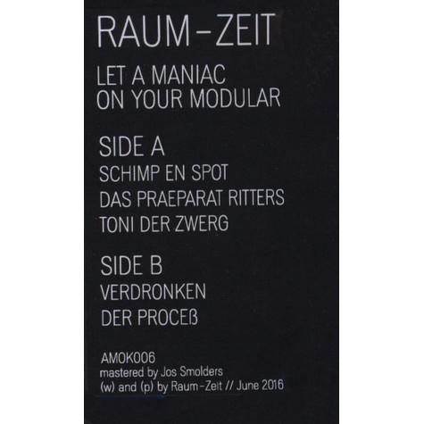 Raum-Zeit - Let A Maniac On Your Modular