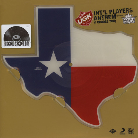 UGK - Int'l Players Anthem (I Choose You) Feat. Outkast Texas Shaped Picture Disc
