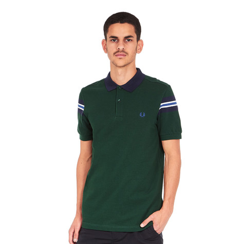 84d478f1 Fred Perry - Bomber Sleeve Pique Polo Shirt (Ivy) | HHV