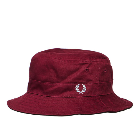 d1fad8bc Fred Perry - Ripstop Reversible Fishermans Hat (Black / Maroon) | HHV