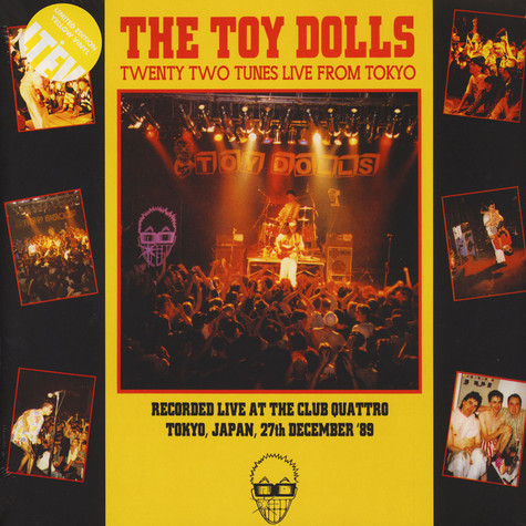 Toy Dolls, The - Twenty Two Tunes Live From Tokyo Yellow Vinyl edition
