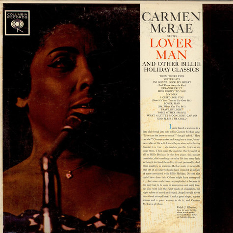 Carmen McRae - Sings Lover Man And Other Billie Holiday Classics