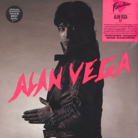 Alan Vega of Suicide - Alan Vega Orange Vinyl Edition