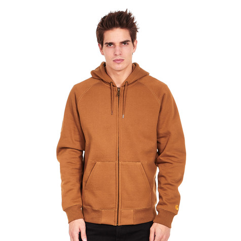 c55f8fc2 Carhartt WIP - Hooded Chase Jacket (Hamilton Brown / Gold) | HHV