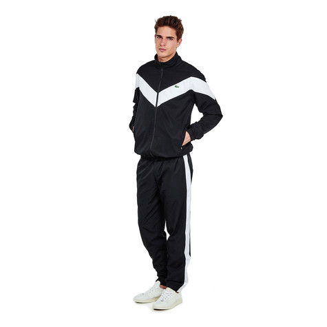 Lacoste - Diamond Weave Bi-Color Track Suit