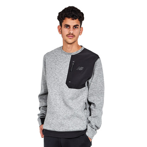 3cd2aec019d46 New Balance - 247 Luxe Crew Sweater (Athletic Grey) | HHV