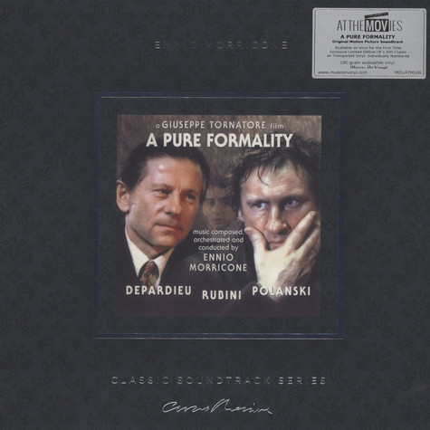 Ennio Morricone - OST A Pure Formality Clear Vinyl Edition