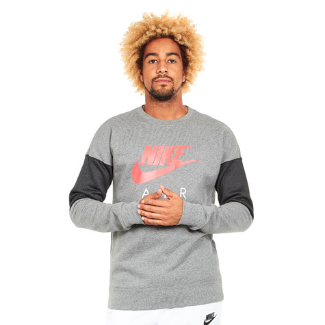Nike - Air Crewneck Sweater (Carbon Heather   Anthracite   Siren Red ... 6cedd3ae4ab8