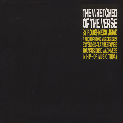 Jihad The Roughneck MC (of Third Sight) - The Wretched Of The Verse Colored Vinyl Edition
