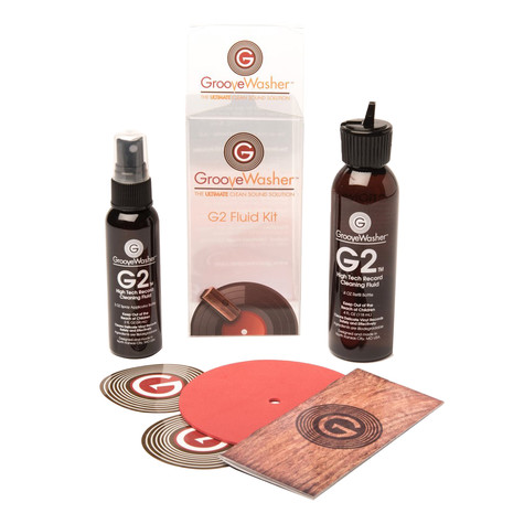 GrooveWasher - G2 Record Cleaning Fluid Kit - 2 oz Mist Spray & 4 oz Refill