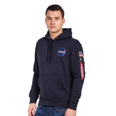 36ae44c26a Alpha Industries - Space Shuttle Hoody (Replica Blue) | HHV