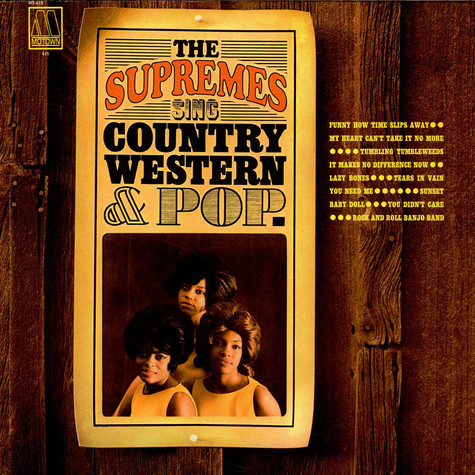 Supremes, The - Sing Country, Western & Pop