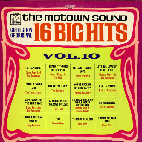 V.A. - The Motown Sound - 16 Big Hits Vol. 10