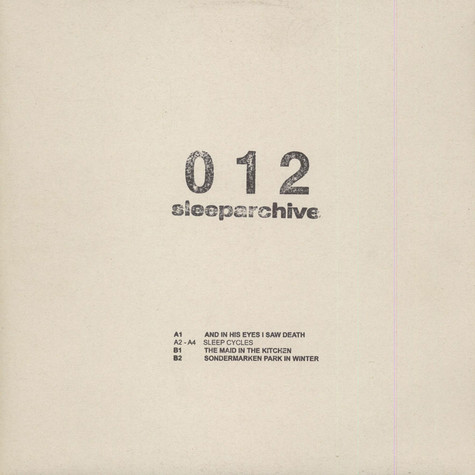 Sleeparchive - And In His Eyes I Saw Death