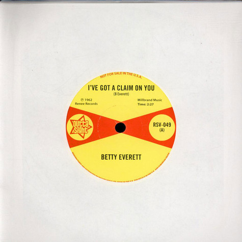 Betty Everett / Juanita Nixon - I've Got A Claim On You