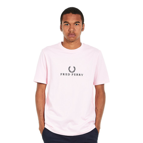 Fred Perry - Embroidered T-Shirt (1991 Pink)   HHV f90addd0d04a