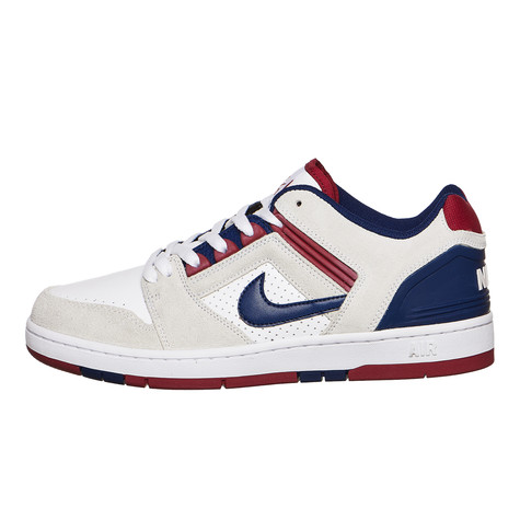 Nike SBSOLARSOFT PORTMORE II CNVS PREMIUM - Trainers - red crush/white/blue void PcU98FY