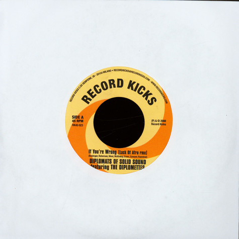 The Diplomats Of Solid Sound Featuring The Diplomettes - If You're Wrong