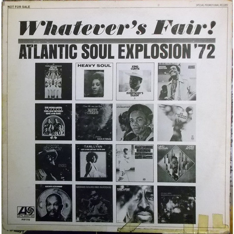 V.A. - Whatever's Fair! (Atlantic Soul Explosion '72)