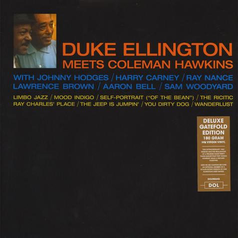 Duke Ellington & Coleman Hawkins - Duke Ellington Meets Coleman Hawkins Gatefolsleeve Edition