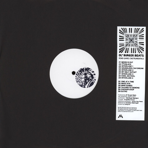 Ol' Burger Beats - Mind Games Instrumentals White Vinyl Edition