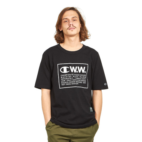 Champion x Wood Wood - Logo Crewneck T-Shirt
