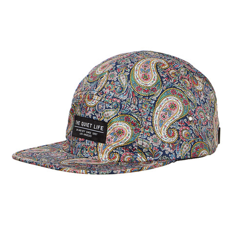 The Quiet Life - Liberty Paisley 5 Panel Camper Hat (Multi Color)  a5478b7f4853